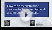 Leveraging Preconstruction Services as a Growth Strategy